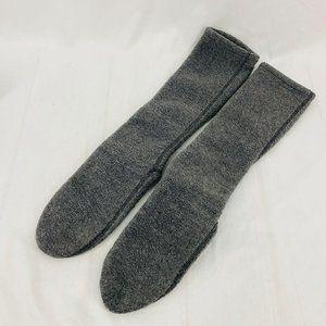 LL Bean Grey Fleece Socks